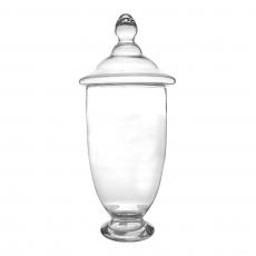 OVAL TALL GLASS JAR (L)