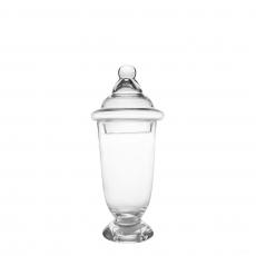 OVAL TALL GLASS JAR (S)