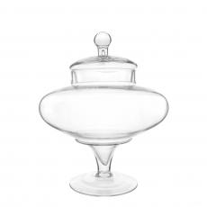 LARGE BOTTOM GLASS JAR (L)