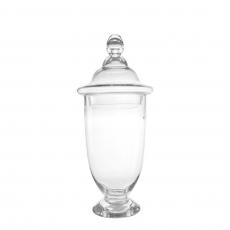 OVAL TALL GLASS JAR (M)