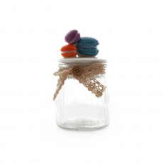 CANDY JAR WITH MACAROON TOP