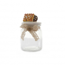 CANDY JAR WITH COOKIES TOP