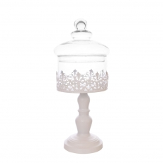 TIN CANISTER WITH GLASS TOP M